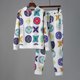 Wholesale quality tracksuits for men for sale – designer 2020 Mens Tracksuit designer Hoodies pants Piece Sets Solid Color Brand Outfit Suits High Quality Tracksuits for Mens