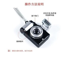 imitation cameras Canada - 2020 new designer necklace shiny boy cool high quality luminous small camera necklace cool fashion street shot