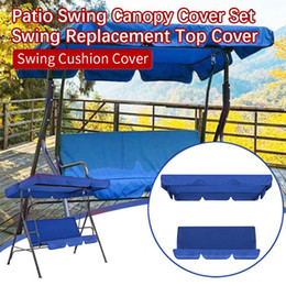 outdoor patio swings UK - Terrace Swing Chair 2 Pieces Patio Swing Canopy Cover Set Replacement Top Cover + Cushion Outdoor