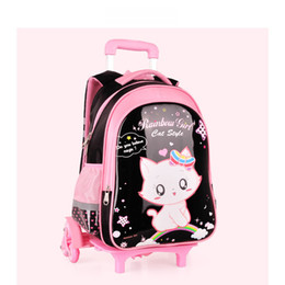 kids backpacks wheels Australia - kids Student School bag On wheels Children School Rolling backpacks child waterproof shoulder bag for Girls school Trolley bags T200709