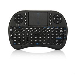 mini pc android smart tv box UK - 2020 20pcs Mini i8 Wireless Keyboard 2.4G English Air Mouse Keyboard Remote Control Touchpad for Smart Android TV Box Notebook Tablet Pc-8