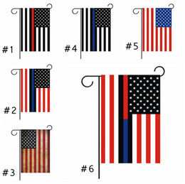 Wholesale cloth american flag for sale - Group buy 30 cm Blue Striped American Flag For Amercia President Campaign Banner Ployester Cloth Pennant Garden Flags EEA1859