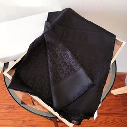 Wholesale 180*70cm Women Classic Scarf Shawl Jacquard Weave Letter Printed Thin Shawl Silk Scarf Fashion Scarves 6 Color
