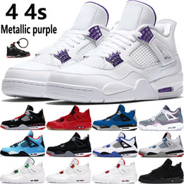 2020 new 4 4s Jumpman basketball shoes metallic purple red green bred OVO Splatter black cat what the men mens sport Sneakers on Sale