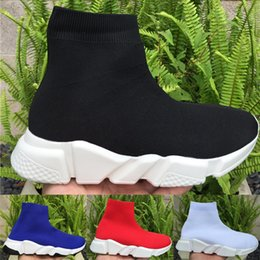 casual knitted shoes Australia - Fashion New Socks stylist Shoes knit Trainer Speed Elastic force Casual Shoes Mens Women sneakers paris platform sneaker Sports