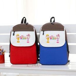 school bag train Canada - Leisure Bag backpack schoolbag printed backpack for boys and girls of primary and middle school students training class