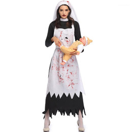 funny costumes women Australia - Funny Terrible Scary Festival Cosplay Women Clothing Womens Vampire Demon Nun Costume Holiday Party Halloween Costumes