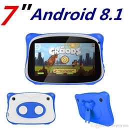 Wholesale 50PCS NEW kid Tablet PC Q888 Quad Core 7 Inch 1024*600 HD screen Android 8.1 AllWinner A33 real 1GB RAM 8GB Q8 Bluetooth wifi with case