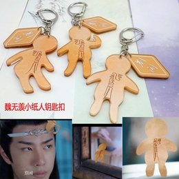 key ring phones Canada - yQOLO New Chen Qing makes the surrounding Wei Wuxian The same small paper man acrylic mobile key ring pendant key ring phone pendant Xiao Zh