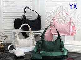 pink nylon tote bag NZ - Female Bag Classic Women Bags Nylon Purse Crescent Case Match Fashion Party Bags Handbags Wallet Tote Urban Sacs 20 Hot Sales