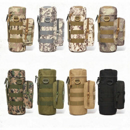 wholesale tactical pouches UK - Camouflage Tactical Kettle Bag Waist Bag Cycling Bags Molle Camping Hiking Pouch Bolsillo Waist Water Pack a4Kr#