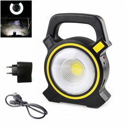 rechargeable floodlights Canada - New LED Floodlight Portable Flood Light Solar Rechargeable Flashlights Lanterns COB Outdoor Work Spot Lamp Camping Lighting VGfx#