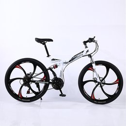 26 inches folding bikes NZ - 26-inch high carbon steel folding mountain bikes 21 24 27 speed bicycle adult driving off-road soft tail bicycle
