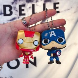 wonder woman keychains UK - Hot New Toys Keychain Iron Man Groot Key Ring Kids Wonder Women Key Chain Bag Pendant Jewelry nulx#