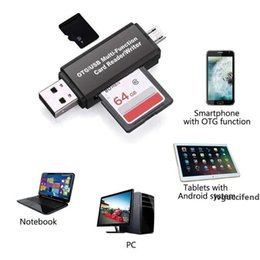 tf card reader android Canada - Memery Cards Reading Device Micro USB OTG to USB 2.0 Adapter Multi Micro SD TF Card Reader For Android Phone Tablet PC
