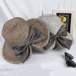 shades christmas Australia - Fashionable Summer Women's sun-proof big beach straw Butterfly butterfly sun-shading women's straw hat big beach hat