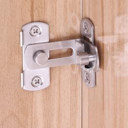 Vente en gros 90 degrés Barn verrouillage de porte en acier inoxydable brossé à angle droit porte coulissante Mini verrou boucle Type de papillon Boulons durables