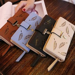 passport case women Australia - 2019 New Women Lady Clutch PU Leather Leaf Wallet Long Card Holder Phone Case Purse Handbag Hot