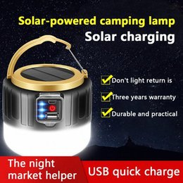 tent lighting night Australia - Solar Tent Light 280W Camping Outdoor LED Bulb Lights USB Rechargeable Portable Lantern Emergency Light USB Night Gifts UvK0#