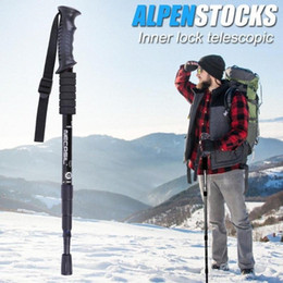 walking poles wholesale Australia - Professional Walking Sticks Classic Delicate Trekking Pole 4 Sections And Camping Camping & Hiking Telescopic Cane Stick Crutch For Ou Q2yV#