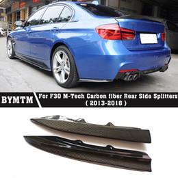 PSM-Style Rear Side Splitters Carbon fiber Bumper Spoiler for BMW 3 Series F30 M-Tech on Sale