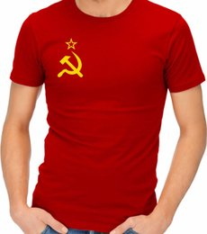 hammer sickle NZ - Soviet Flag Hammer And Sickle Communist Communism Ussr Cccp T-Shirt Tshirt Tee Tshirt Homme 2019 New Hipster Men Tshirt Homme
