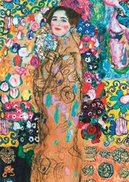 gustav klimt paintings NZ - Gustav Klimt -Portrait of Ria Munk Home Decor Handpainted &HD Print Oil Painting On Canvas Wall Art Canvas Pictures 200711