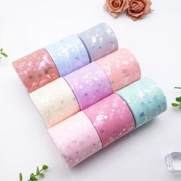 moon star party supplies NZ - 13cm*25yards shiny Star moon tulle Rolls tape for DIY handmade bowknot and Wedding Decor Party Supplies Baby Shower Tutu Skirt