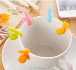 cartoon snail UK - tea bag clip cool gadget Cooking Tools Small Snail Recognizer Device Tea Infuser Cup Of Tea Hanging Bag Color
