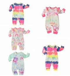 Wholesale Baby Rompers Tie Dye Boys Clothing Cotton Long Sleeve Jumpsuit Newborn Boutique Onesies Spring Autumn Baby Girl Footies Clothes LSK514