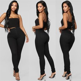 women slim lift pants NZ - Hot Sale Woman Black High Waist Jeans Slim Lift Hip Denim Jeans High Elastic Skinny Pencil Pants S-3XL New arrival drop shipping