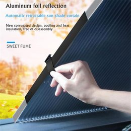 sunshade covers Canada - Car Sunshade Car Front Windshield Sunshade Covers Retractable Sun Visor UV Protection Curtain Rear Window For SUV Truck