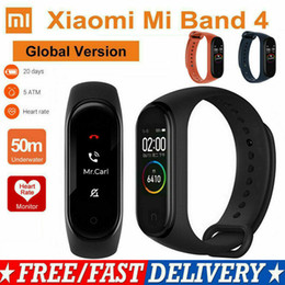 Xiaomi Mi Banda 4 Inteligente pulsera Xiaomi rastreador de ejercicios reloj del ritmo del corazón del sueño Monitor de 0,95 pulgadas de pantalla OLED Bluetooth con dos correas libres en venta