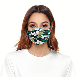 Wholesale designer jeans men resale online - Fashion Face Mask Dust proof Breathable Washable Reusable Protective Mask Jeans Camouflage Printing Masks For Men And Women LJJA5950