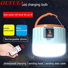 tent lighting night Australia - OUFULA Solar Portable Lanterns Remote Control Tent Light Super Bright Night Market Light Camping 9rYp#