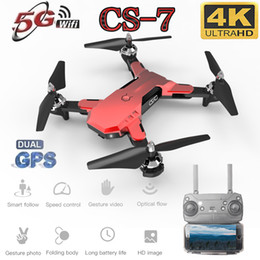 red toy helicopter Canada - 2019 New CS7 5G Quadcopter Drone GPS With 4K Camera Wifi Fpv Foldable Quadcopter RC Drone Highly Stable Hover Helicopter