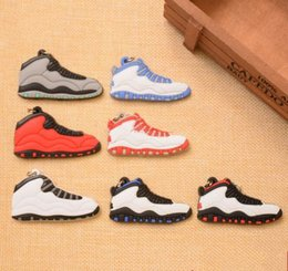 quality wholesale running shoes Australia - Wholesale high quality Running Mini Shoe Keychain 3D Sneaker Soft Rubber Multi Styles Available designer bag charms 3d leather keychain