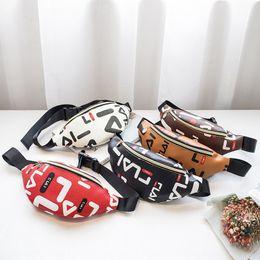 Wholesale new types dress online – ideas Women s fashion one shoulder chest Korean new personalized letter dumpling type crossbody waist Small small bag bag