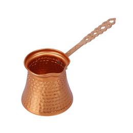 venda por atacado Punho de madeira turco Coffee Pot Café Turk Copper Coffee Maker para Turk Cezve Cafeteria