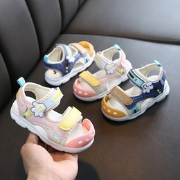 shoes kicks UK - 2020 new baby sandals boys and girls Baotou anti-kicking Sandals children's shoes children's shoes 1-2-3-4-5 years old