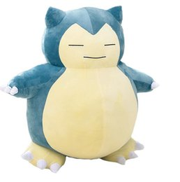 "snorlax soft toy UK - 1PCS 12inch""30cm Toy Snorlax Plush Anime New Rare Soft Stuffed Animal Doll For Christmas Gift MX200716"