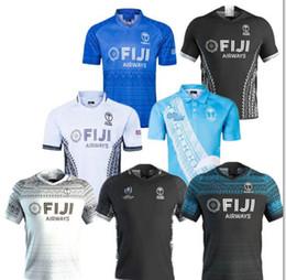Venta al por mayor de Fiji hogar lejos Camisa Jersey de rugby Seven Olímpico calidad de Tailandia 19 20 21 Fiji Nacional de Rugby 7 Jersey S-3XL