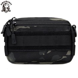 sport shoulder messenger bag NZ - SINAIRSOFT Tactical Messenger Sport Bag MOLLE Mini Crossbody Shoulder Nylon Waist Bag Personal Defense Ultra-light Range Bags