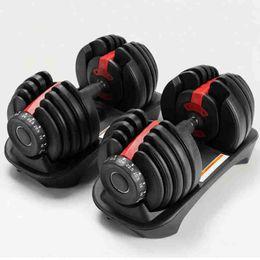 Ajustável halteres 2.5-24kg Pesos exercícios de fitness Halteres construir seus músculos Outdoor Sports Fitness Equipment CYZ2538 transporte marítimo em Promoção