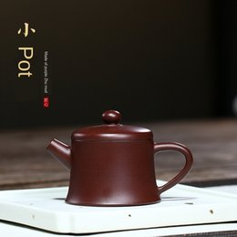 purple sand teapot Canada - Purple sand raw mineral tea set raw mine purple Zhu mud small teapot tea set gift teapot goods