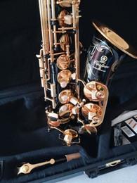 Ingrosso Nuova migliore qualità Nero Alto sax YAS-82Z / YAS875EX Giappone Marca Alto sassofono E-Flat strumento musicale Con livello professionale caso