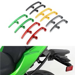 rear pillion passenger seat Canada - Motorcycle Rear Grab Bars Rear Seat Pillion Passenger Grab Rail Handle For Z650 Ninja 650 2020 2020 1 Pair CNC