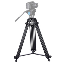 heavy duty tripods UK - PULUZ Professional Heavy Duty Video Camcorder Aluminum Alloy Tripod for DSLR   SLR Camera, Adjustable Height: 62-140cm