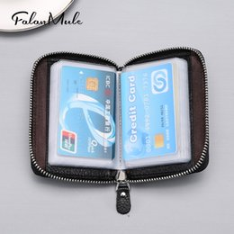 document holders UK - LDKdH Men's and women's handbags credit package license rfid Multi-functi Women credit card holder card holder organ cowhide document packa