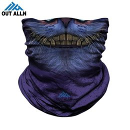 3d animal face mask NZ - 3D Cosplay Face Mask Trekking Seamless Bandana Cycling Breathable Neck Gaiter Animal Ski Masks Headband Dog Cat Pets Neck Warmer